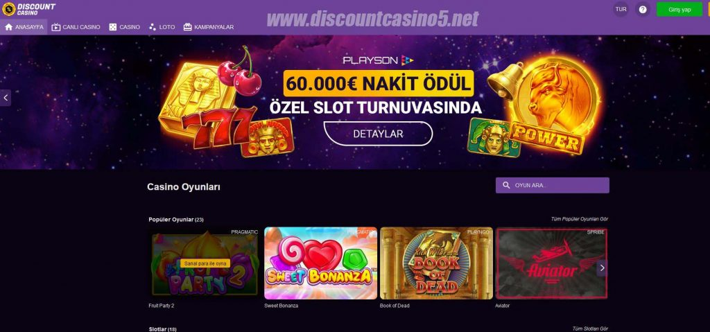 Discount Casino120 - Casino Oyunları