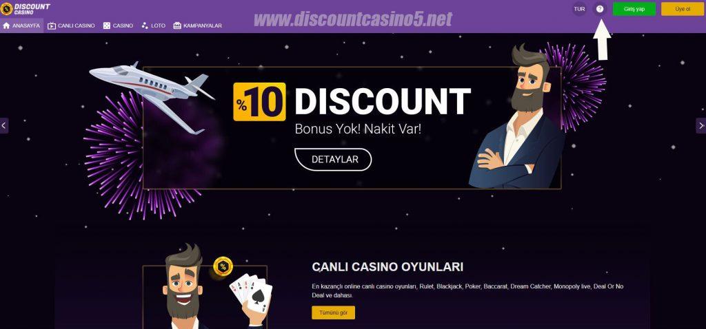 Discount Casino Canlı Destek Hattı'na nasıl ulaşılır