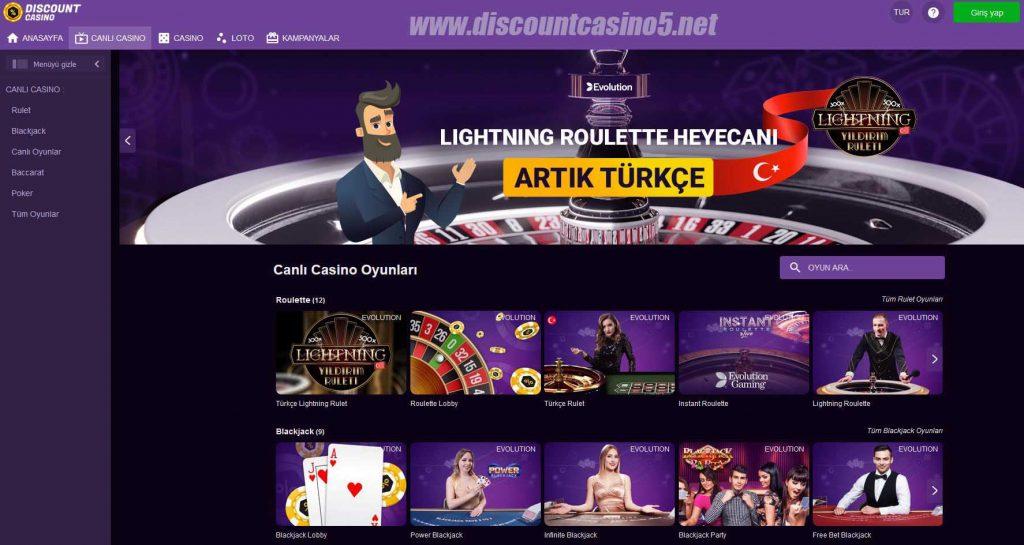 Discount Casino121 - Canlı Casino Oyunları